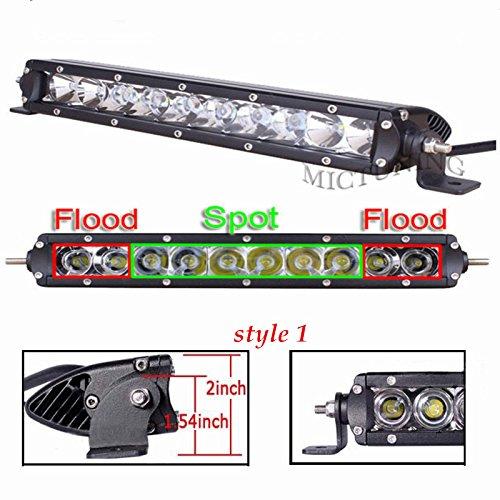 Mini Led Light Bar >> Mictuning Sr Mini Series 11 50w Single Row Cree Led Light Bar Combo Spot Flood 5000lm 500m Visibility
